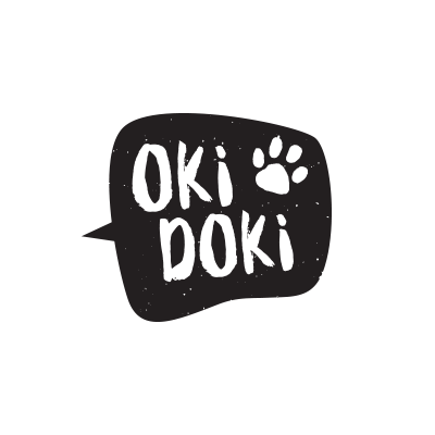 OKI DOKI Logo and packages for curd snack
